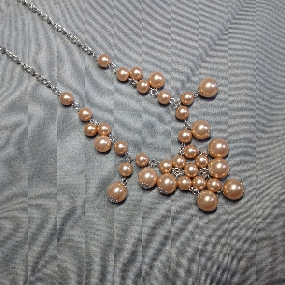 Paparazzi Pearl Cluster Necklace
